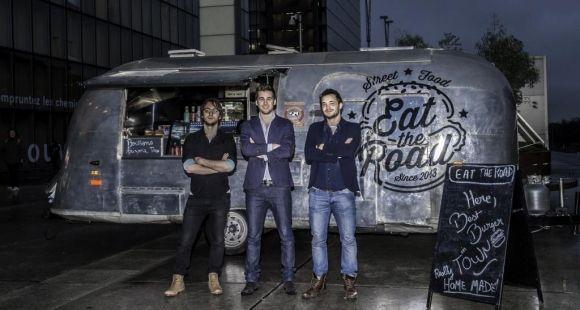 Les trois fondateurs de Track The Truck, start-up incubée par l'ECE. ©ECE