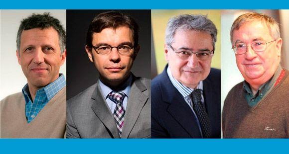 Jean-Luc Arrègle (©EM Lyon), Rodolphe Durand (©HEC), René Garcia (©Edhec) et Louis Eeckhoudt