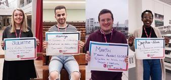 L'université de Lille accueille cette année 4 volontaires chargés de l'orientation active des collégiens. //©Université Lille 3