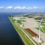 Construction d'un parc éolien aux Pays-Bas. //©Siebe Swart/Hollandse Hoogte-REA