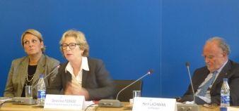 Lancement du comité Sup'Emploi - Geneviève Fioraso au centre, Françoise Gri et Henri Lachmann - Dec2013
