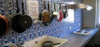 Les cuisines de la maison du Portugal.