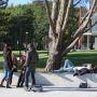 Etudiants en pause à l'université d'Angers //©V. Bertereau