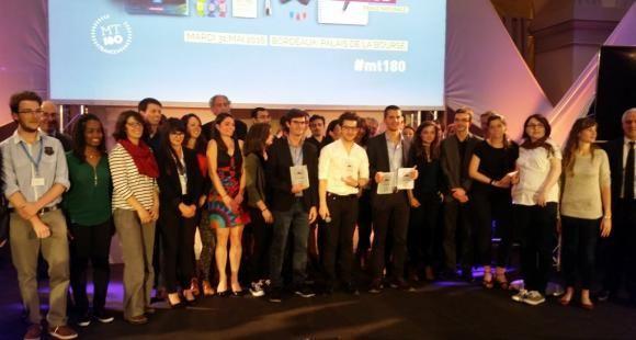 """Les finalistes du concours 2016 de """"Ma thèse en 180 secondes"""" le 31 mai 2016 à Bordeaux"""