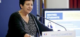 Lors de la conférence de presse de rentrée, la ministre de l'Enseignement supérieur, de la Recherche et de l'Innovation a annoncé une loi pour réformer la procédure d'orientation APB. //©Nicolas Tavernier/REA