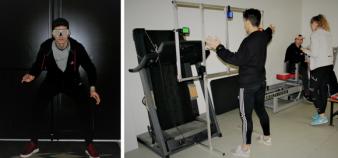 La salle d'analyse du mouvement et de biomécanique du Creps a été créée en vue de servir non seulement la performance sportive, mais également la recherche et la formation. //©Camille Pons
