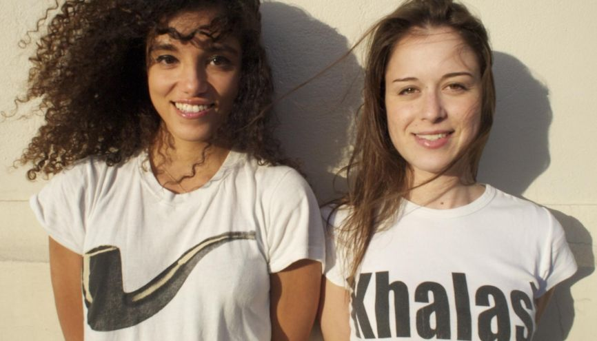 2.600 artistes ont participé au Pèlerinage en décalage 2015 organisé par Kenza (à gauche) et Inès (à droite). //©Photo fournie par les témoins