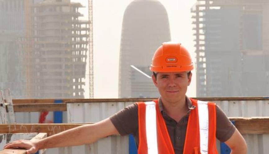 """""""L'équipe d'ingénieurs présente était essentiellement constituée d'expatriés. J'étais l'un des rares stagiaires."""" //©DR"""