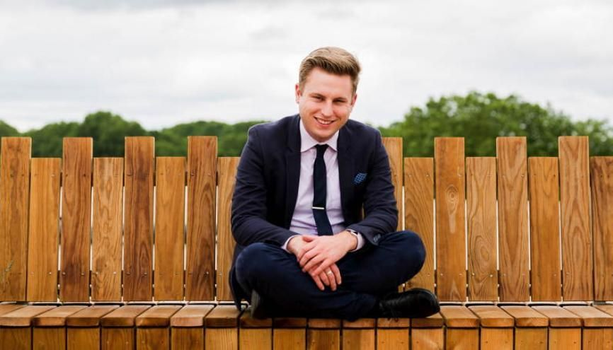 À 21 ans, Charles a validé sa licence LEA anglais-allemand. //©Thomas Louapre/Divergence pour l'Etudiant
