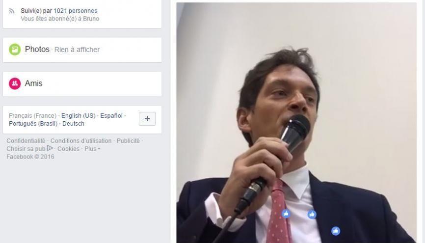 Bruno Dondero expérimente une diffusion en direct de ses cours de droit des sociétés. Les étudiants savent déjà en tirer profit. //©Facebook/Capture d'écran