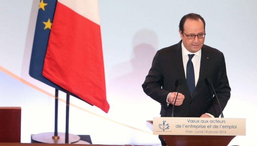 François Hollande a présenté, le 18 janvier 2016, ses mesures pour relancer l'apprentissage. //©elysee