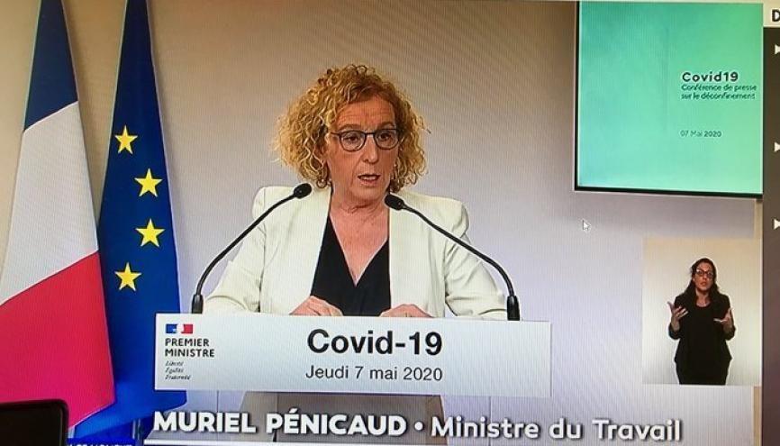 Déconfinement : Muriel Pénicaud ministre du Travail a annoncé la réouverture progressive des centres de formation d'apprentis à partir du lundi 11 mai //©Etienne Gless