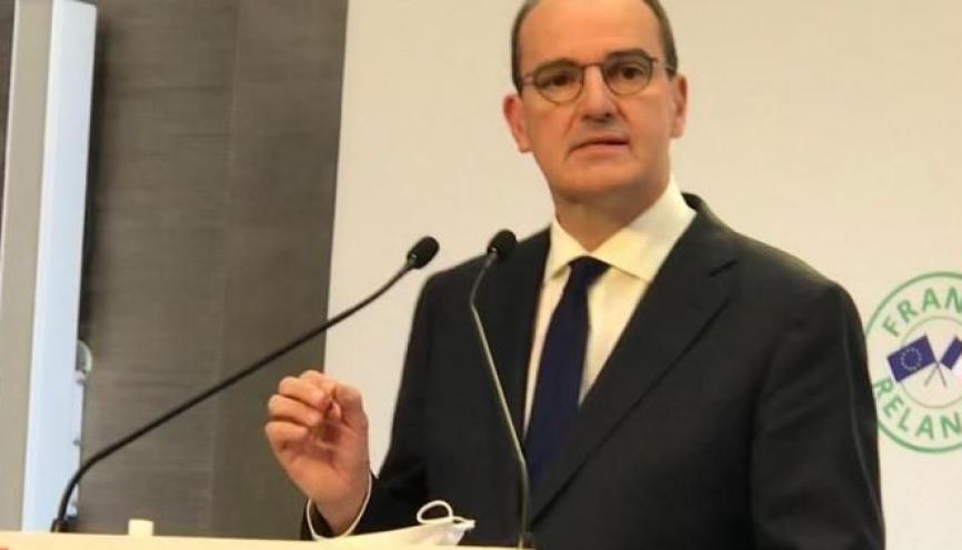 Jean Castex, le 3 septembre 2020, présente le plan de relance. //©Etienne Gless