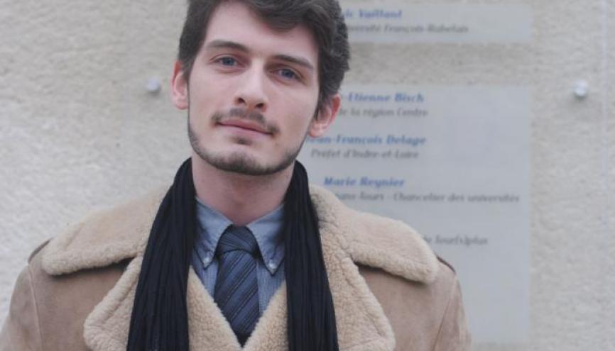 Portrait de fac Tours : Maximilien, vice-président des étudiants. //©Caroline Franc