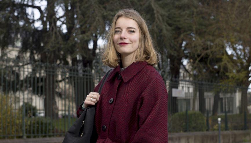 Anne-Lise s'investit au sein du BDE. //©Théophile Trossat pour l'Etudiant
