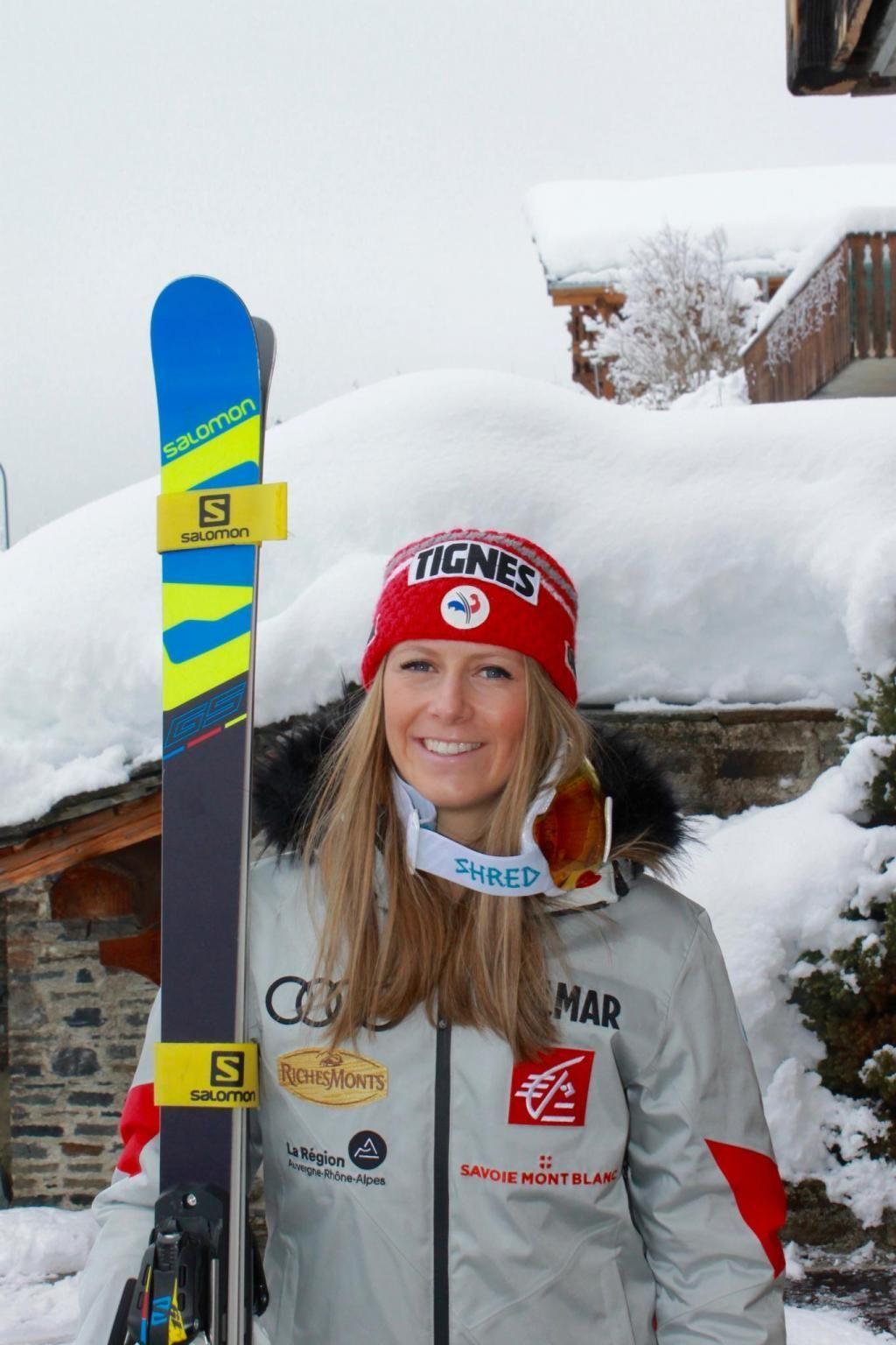 """""""Être athlète de haut niveau est un travail à plein temps"""", affirme la skieuse de 22 ans Laura Gauché, qui n'a pas pour autant abandonné ses études. //©Photo fournie par le témoin"""