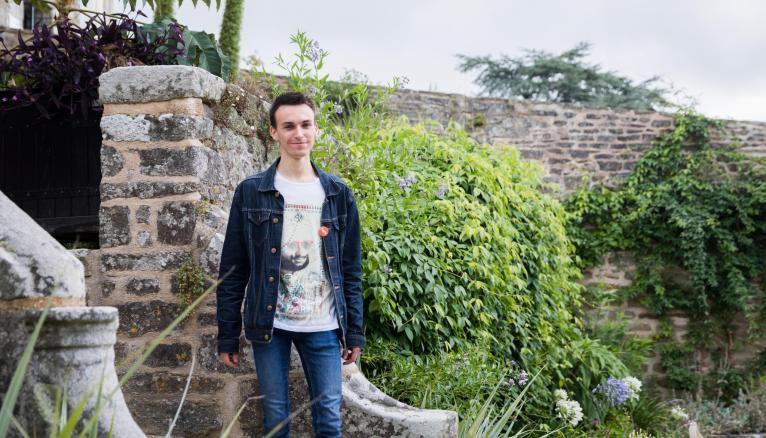 Yvan, 23 ans, en M1 création contemporaine, à l'université de Limoges.