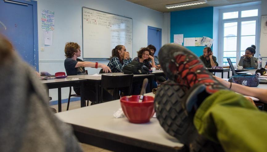 Au lycée expérimental de Saint-Nazaire (44) //©Martial Ruaud / Andia pour l'Etudiant