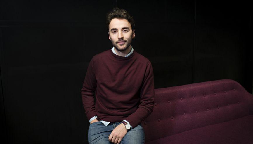 Samuel a créé sa start-up pour aider les consommateurs à choisir parmi les 2.500parfums qui sortent par an. //©Marie-Pierre Dieterlé pour l'Etudiant