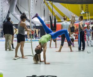 La formation des acrobates à l'ENACR est un long travail quotidien, à la fois physique et artistique.