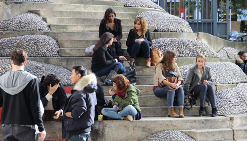 Étudiants au centre Tolbiac de l'université Paris 1. //©DR