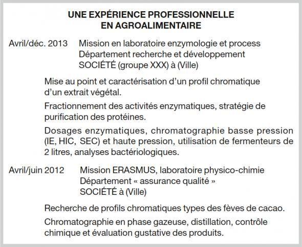 exemple de cv expérience professionnelle L'expérience professionnelle : étoffez votre CV sans mentir   L  exemple de cv expérience professionnelle