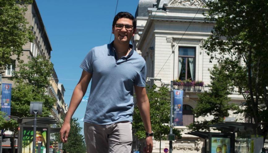 À 21 ans, en licence de biologie, Alexandre est vice-président étudiant de l'université Jean-Monnet. //©Alexa Brunet/Transit pour l'Etudiant