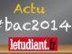 Actu bac 2014 //©L'Étudiant