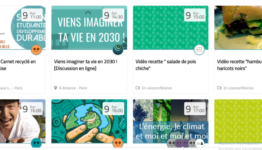 Le site Internet du REFEED, étudiants, associations étudiantes et établissements proposent différentes actions en lien avec le développement durable. //©Capture d'écran refedd.org