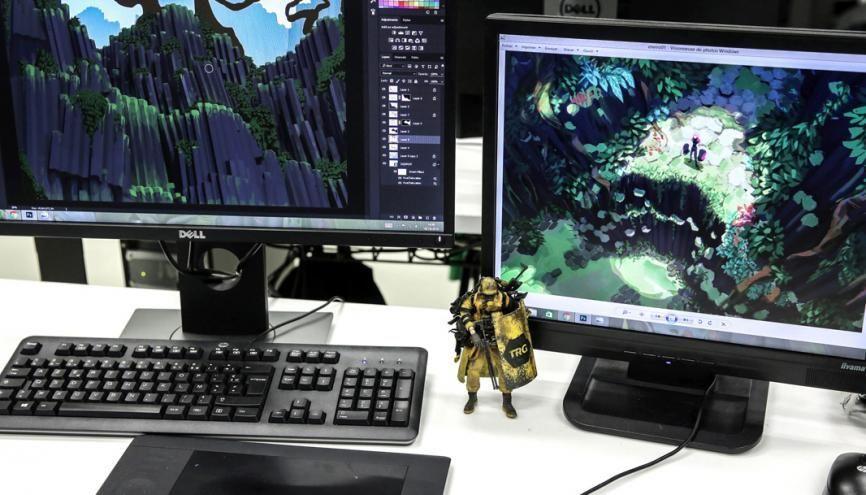 Rubika fait partie des écoles de jeux vidéo préférées des professionnels. //©Aimée Thirion/HansLucas pour l'Etudiant