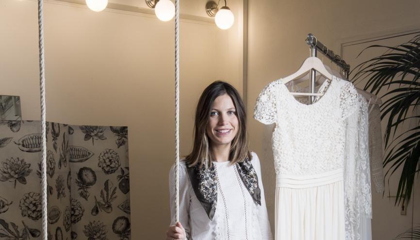À 20 ans, étudiante en BTS design de mode au lycée Sévigné, à Tourcoing, Laure fait son premier stage à La Redoute, en lingerie. //©Éric Garault pour L'Étudiant