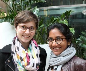 Laura Choisy et Madhu Desbois ont imaginé une façon de travailler les uns chez les autres pour ne pas se sentir isolé.