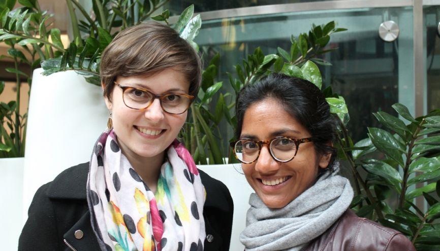 Laura Choisy et Madhu Desbois ont imaginé une façon de travailler les uns chez les autres pour ne pas se sentir isolé. //©Elsa Tabellion