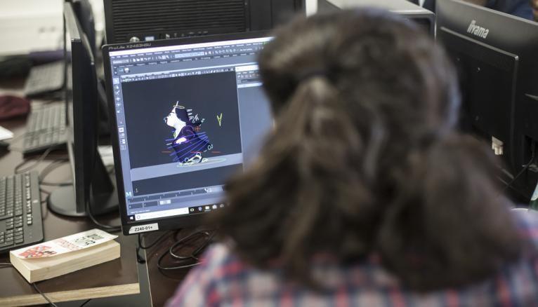 En dernière année, les étudiants en cinéma d'animation créent un court-métrage qui sera présenté aux studios stars, tels que Illumination Mac Guff.