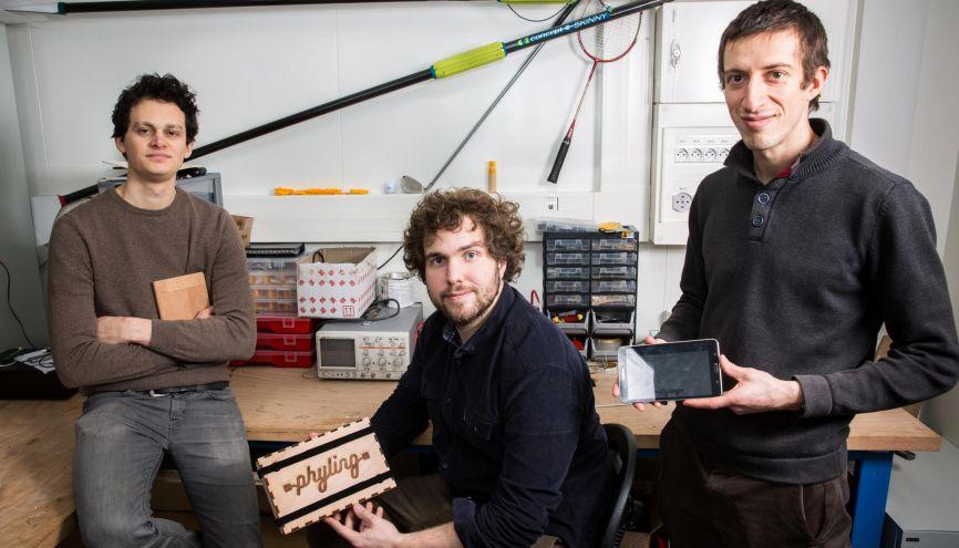 Les trois fondateurs de la start-up Phyling utilisent la science pour améliorer les performances des sportifs de haut niveau. //©École polytechnique - J.Barande