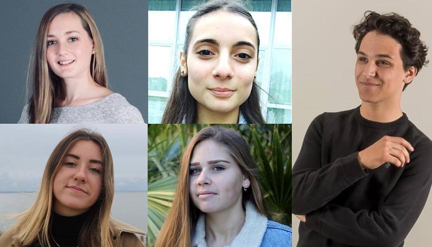 Tiffanie, Sara, Lucie, Claire et Mehdi vont passer le bac en 2019... et s'inscrire dans le supérieur. Suivez leur année en images ! //©Photos fournies par les témoins