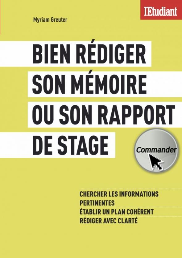 Rapport De Stage Où Trouver La Documentation L Etudiant