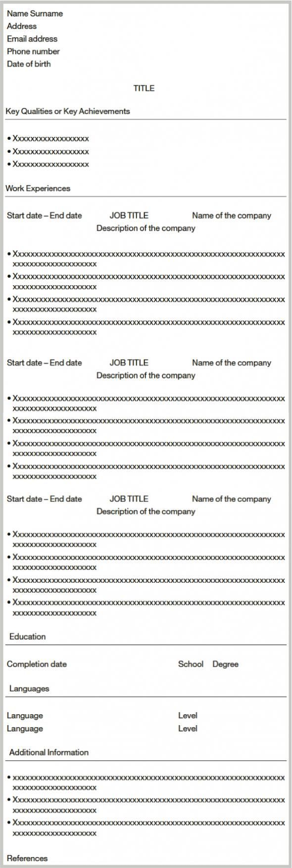 r u00e9diger son cv en anglais pour un job  un stage ou un premier emploi