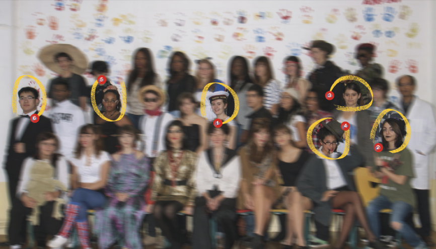 Les élèves de terminale STD2A, année 2012-2013, du lycée Georges-Brassens, à Courcouronnes (91). //©Photo fournie par le témoin
