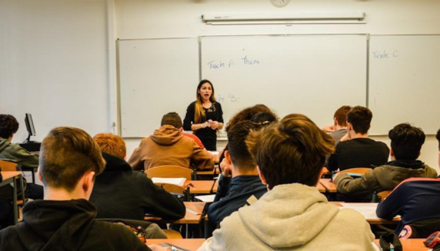 Maëli a été titularisée et sera professeure remplaçante l'an prochain. //©erwin canard