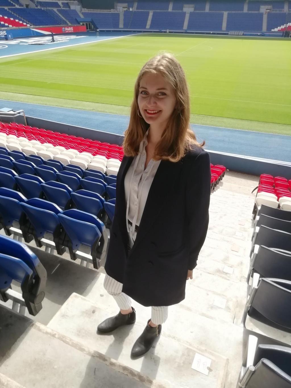 Lucie, étudiante à la Sports Management School, est à la tête du projet de la SMS E-Sport Cup. //©Clément Rocher