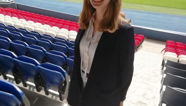 Lucie, étudiante à la Sports Management School, est à la tête du projet de la SMS E-Sport Cup.