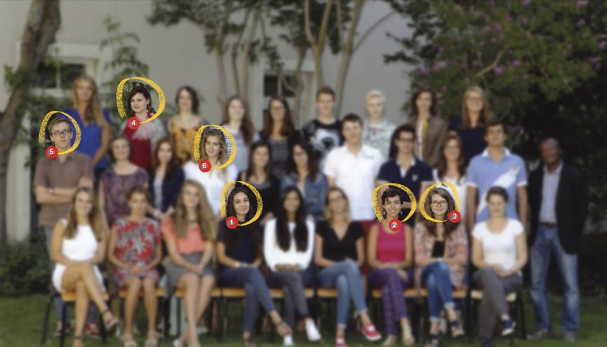 Les élèves de terminale L de l'année 2014-2015 du lycée Mongazon, à Angers (49). //©Photo fournie par le témoin