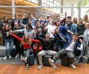 Une partie des élèves de prépa en séjour immersif à Audencia dans le cadre du programme Inside.