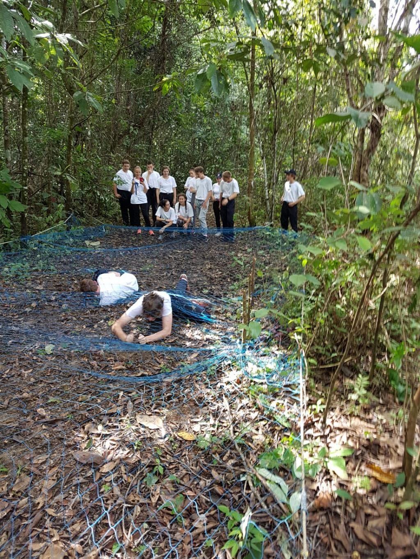 Les activités sportives dans la forêt pour les volontaires en Guyane. //©Photo fournie par le témoin