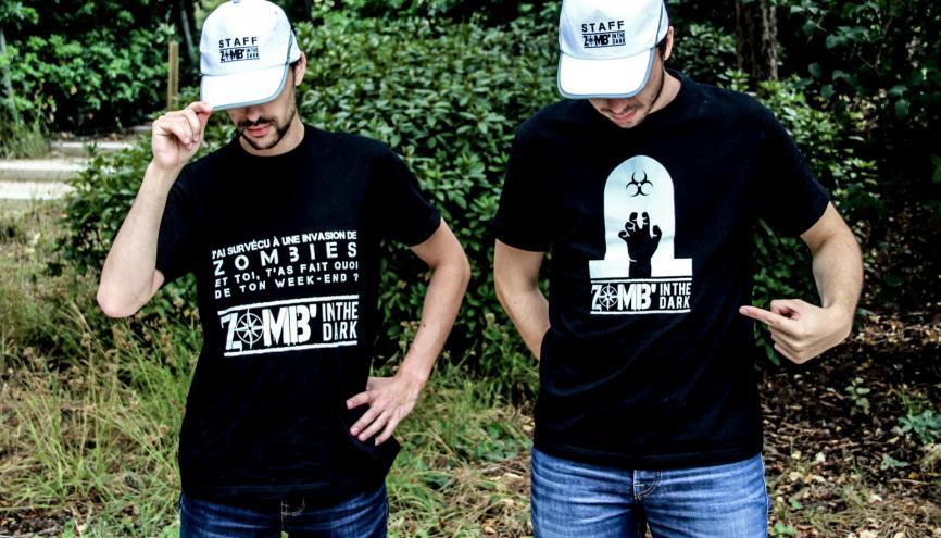 Mathieu Guyen et Paul Chiozzotto aiment se faire courser par les zombies et ont monté une association pour ne pas être seuls ! //©Photo fournie par le témoin