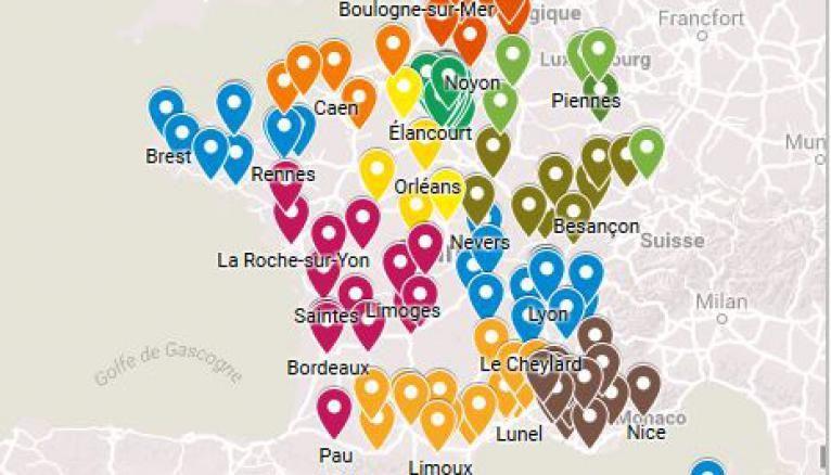 Numérique : la carte de France des formations sans le bac.
