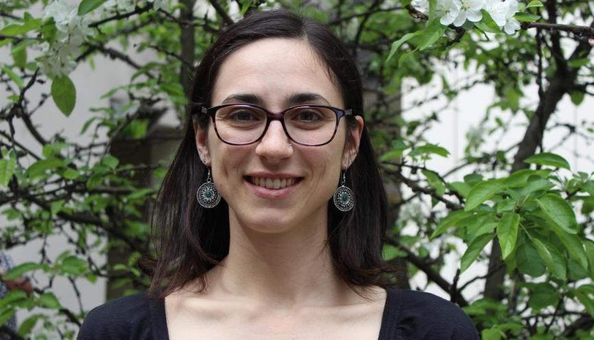 Rosalie Salaün, porte-parole des Jeunes Ecologistes, a rejoint l'organisation en 2012. //©Delphine Dauvergne