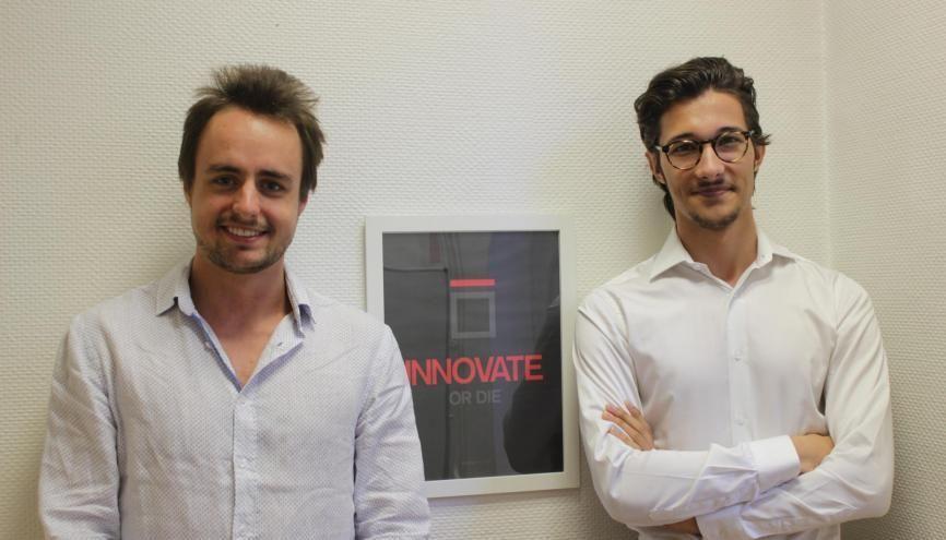 Eymeric et Théo souhaitent multiplier les projets d'entrepreneuriat social. //©Delphine Dauvergne