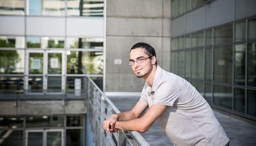 Thibault, 24 ans,  en première année de master économie comportementale et décision, à l'université de Montpellier. //©David Richard/Transit pour l'Etudiant